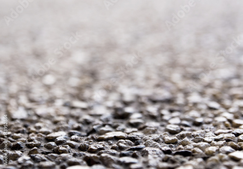 Texture of the exposed aggregate finish flooring Canvas Print