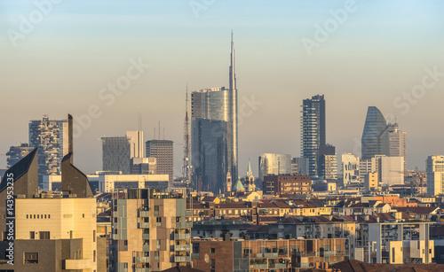 Milan, Lombardy, Italy. Milan's skyline