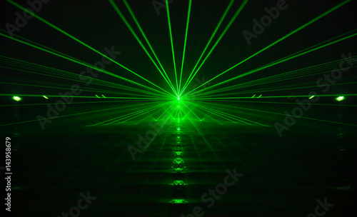 green laser light and sound Canvas-taulu