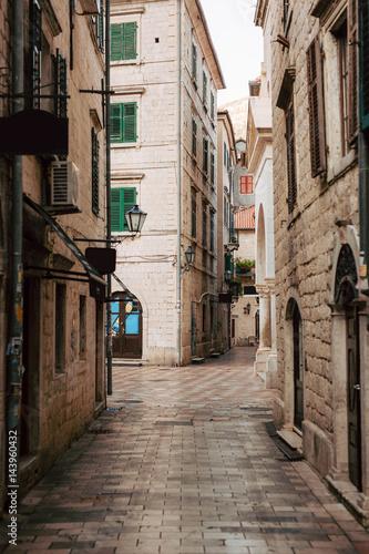 Fototapeten Schmale Gasse The Old Town of Kotor. City streets. Montenegro