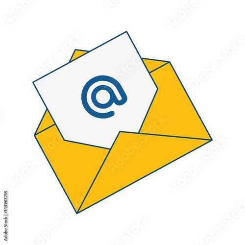 Photo envelope with arroba icon