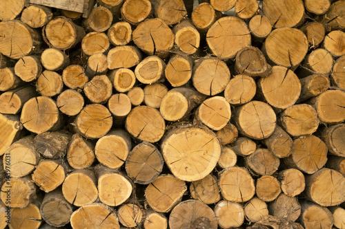 Foto op Aluminium Brandhout textuur dry firewood, natural wooden background