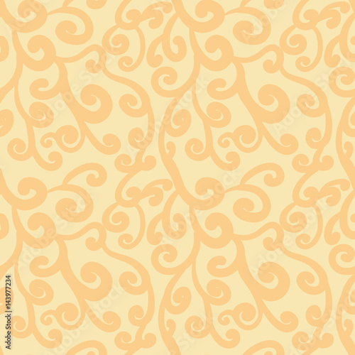abstract-flourish-seamless-pattern-gorgeous-pale-orange-repeating-background-stylized-branches-floral-vector-pattern