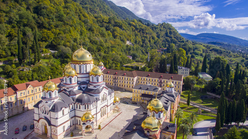 Beautiful aerial view on New Athos monastery Canvas-taulu