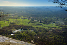 Panoramic View Of Cleveland Georgia Seem From The Summit Of Yonah Mountain