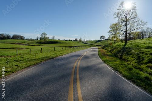Fotografie, Obraz  Scenic country road in North Georgia Mountains