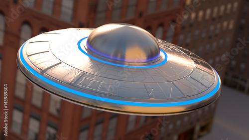 Foto op Canvas UFO Vintage UFO