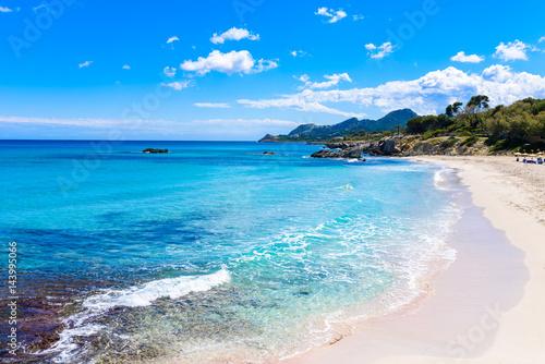 Poster Cote Cala Rajada - beautiful coast of Mallorca, Spain