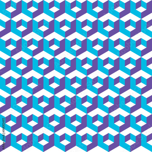 Photo Seamless abstract vector geometric isometric cube pattern background