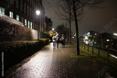 夜の街 夜景 街並み ヨーロッパ 運河 Stock Photo Adobe Stock