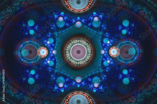 Fotobehang Fractal waves Fractal background colorful wallpaper for every concept.