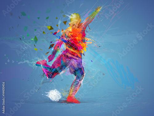 Fotografia  soccer player abstract concept