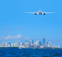 Miami, Florida, Skyline Viewed...