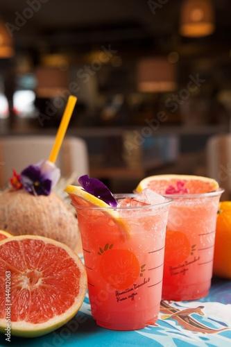 grapefruit ade juice, 자몽주스, 자몽쥬스 Canvas Print