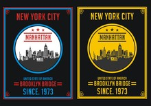 Retro New York City, Poster, T Shirt, Vector