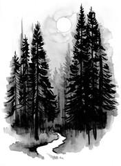 Plakat Dark forest