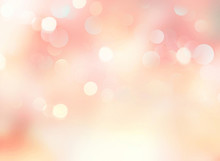 Soft Pink Yellow Pale Spring Blurred Abstract Background.