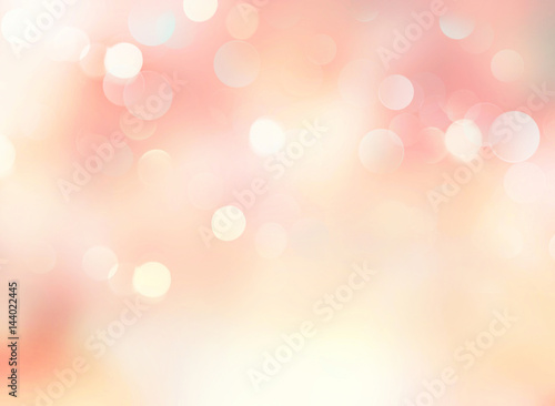 Fotografía  Soft pink yellow pale spring blurred abstract background.
