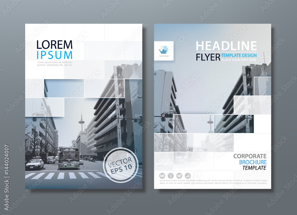 Fototapeta Annual report brochure flyer design template vector, Leaflet cover presentation, book cover.