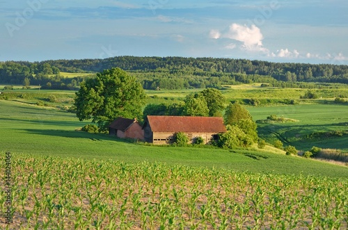 Fototapeta Wieś - wiejski krajobraz obraz
