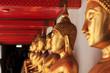 Buddha statue inside a temple of Bangkok, Thailand