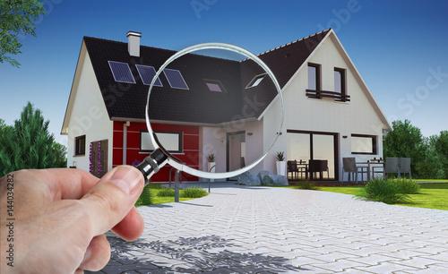 Concept audit et achat immobilier de maison Fototapeta