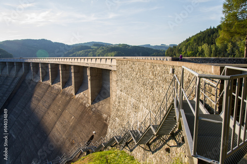 Photo of dam with nature