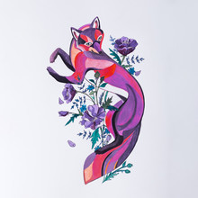 Sketch Of Fox In The Colors On...