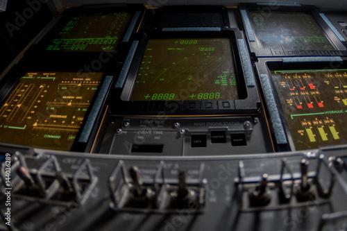 Keuken foto achterwand Nasa spaceship control panel mission to moon and mars