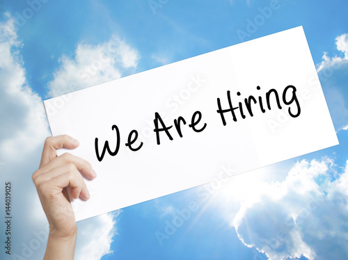 Fotografía  We Are Hiring  Sign on white paper