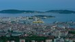 Timelapse of Toulon in a summer evening