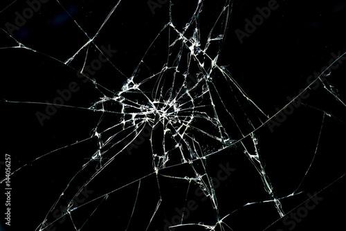 Pinturas sobre lienzo  Brokan black glass