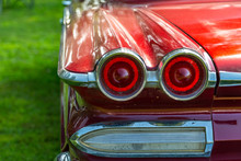 Taillight Of Vintage Automobile