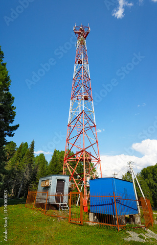Mobile towers in Altai moumtains Canvas Print