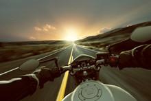 Motorrad Auf Landstraße