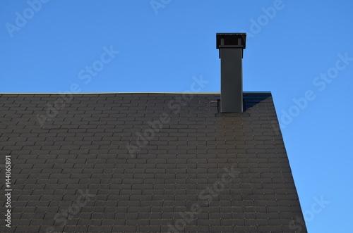 Toiture Et Cheminee D Une Nouvelle Construction Buy This Stock