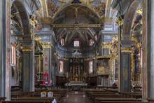 View Of The Altar Of The Church Of Saint Giacomo And Cristoforo, Craveggia, Val Vigezzo, Piedmont, Italy.