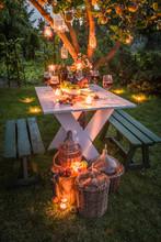 Beautiful Table In Garden Read...