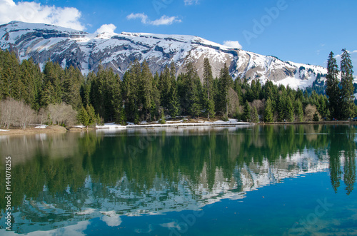 Lac des mines d'or - Morzine Tablou Canvas