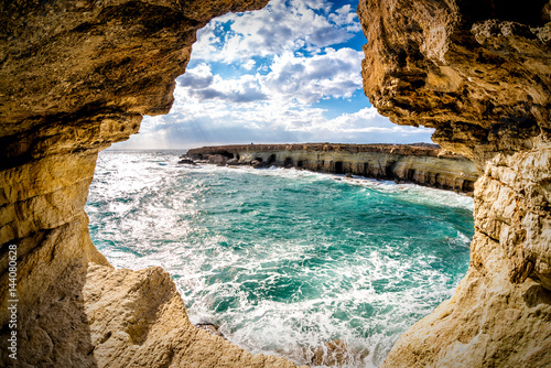 Foto op Aluminium Cyprus Sea caves near Ayia Napa. Famagusta District, Cyprus