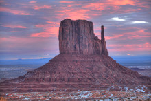 Sunrise, West Mitten Butte, Monument Valley Navajo Tribal Park, Utah