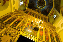 Iconostasis Inside St. Basil's Cathedral, Moscow, Russia