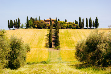 Panel Szklany Toskania Tuscany, spring landscape