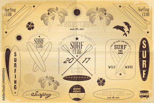 surfing-labels-set