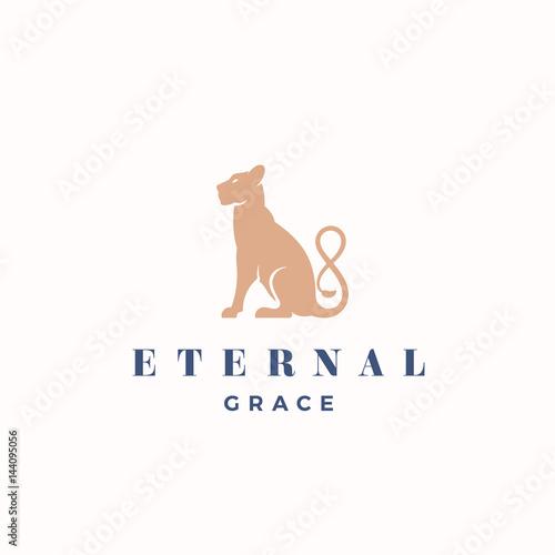 Fotografie, Obraz  Eternal Grace Abstract Vector Sign, Emblem or Logo Template