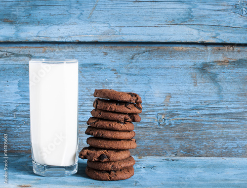 Garden Poster Cookies Oatmeal cookies and a glass of milk