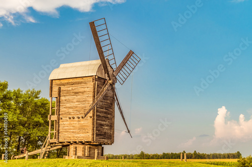 Photo sur Toile Moulins Large Russian wooden mill. Belgorod region.