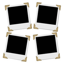 Set Of Retro Photo Frames With...