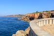 Vista da costa de Cascais em Portugal