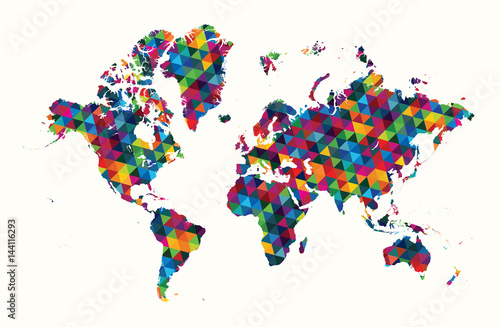 Decorative world map abstra...